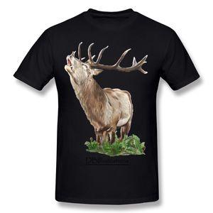 Son erkek% 100% Pamuk Fern Stag T-Shirt erkek O Boyun Siyah Kısa Kollu T Gömlek S-6XL Tasarım T-Shirt