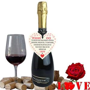 New My Soulmate Ti amo Cuore appeso in legno Placca Carino San Valentino Regalo segno Decorazioni per feste Ciondolo WX9-264