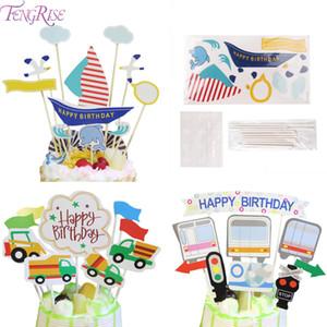 FENGRISE 7 가지 스타일 Happy Birthday Cupcake Toppers 생일 파티 장식 케이크 Topper 베이비 샤워 Kids 생일 파티 호의