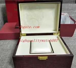 De lujo de alta calidad Topselling Red Nautilus Reloj Caja original Papeles Tarjeta Cajas de madera Bolso para Aquanaut 5711 5712 5990 5980 Relojes