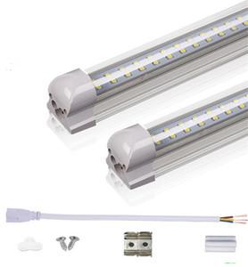 T8 LED 튜브 2FT 3FT 더블 행 통합 LED 전구 18W 28W SMD2835 LED 조명 85-265V 형광등 조명 램프