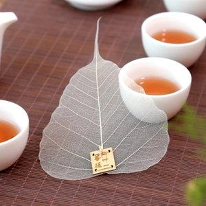 1 pcs Filtro puro Bodhi Leaf Tea Filter Bookmarks Personalidade Criativa Adornment Metope Hollow out the Leaves Personality Filter Preferred