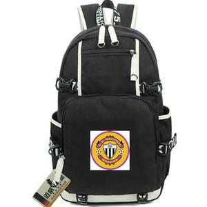 CD Nacional daypack Alvinegros sırt çantası 1910 futbol kulübü sırt çantası Futbol schoolbag Bilgisayar sırt çantası Spor okul çantası Açık gün paketi