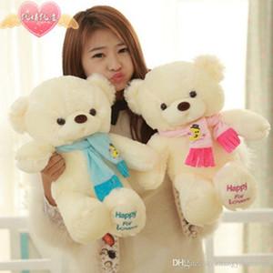 Genuine Hug Teddy Bear Urso de pelucia Plush Toys 30cm Children Ai Taidi Scarf Bear Teddy Bear Gift Plush Dolls Brinquedos