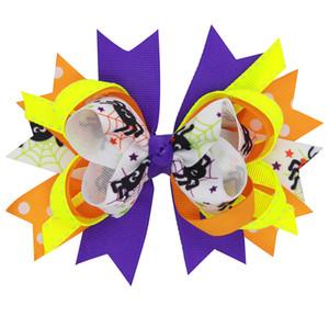 """17 ADET / GRUP 4.5 """"örümcek Cadılar Bayramı karnaval saç yaylar klip yarasa spook Saç Kravat karikatür kabak Elastik Saç Bandı ..."""