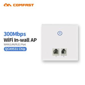 Chegada nova Comfast E535N Parede Embutido 86 Painel Sem Fio AP Router 2.4G Wifi Sem Fio Computador RJ45 RJ11 parede branca ap