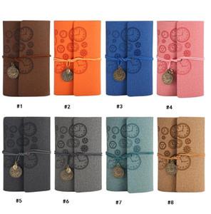 Rétro créatif vintage Bound journal cahier journal de voyage en cuir cahier de pirate pour les filles a6 poche mini compte livre cadeau de noël