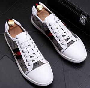 Alta Qualidade Moda Men High Top britânica Estilo Rrivet causal luxuosa Shoes Homens Red Black Gold sapatos de fundo sapatos dos homens do desenhista g3.38.