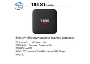 телевизор коробка T95 S1 Amlogic S905W 1gb баран 8gb ром Android TV OS смарт тв ящик T95S1