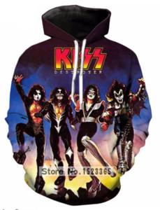 KISS Rock Band 3D Pullover Pullover con cappuccio / Felpe con cappuccio per donna / uomo