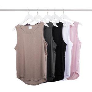 T 셔츠 남성 민소매 여름 티 곡선 앙 스케이트 보드 조끼 티 클래식 거리 개성 캐주얼 러닝 셔츠