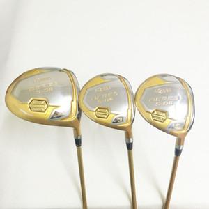 Nouveaux hommes Golf clubs HONMA S-06 4 étoiles pilote + 2 fairway bois graphite arbre de golf R / S flex Golf bois set livraison gratuite