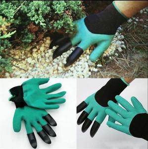 Garden Genie Guantes para la excavación de la plantación Unisex 4 garras Camino fácil para el jardín Digging Planting Gloves Resistente al agua a las espinas KKA1072