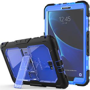 A prueba de golpes de todo el cuerpo Funda de silicona con correa para el hombro para Samsung Galaxy Tab 10.1 A 2016 T580N T580C T585 T580 Tablet + Pen