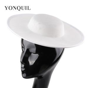 30cm runde feste Kopie sinamay Partei Fascinator Millinery Untertasse Material Kopfbedeckung Hut Hochzeit dekorative Basis Hüte DIY Haarschmuck