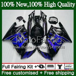 Corps pour HONDA CBR600 F3 CBR600RR F3 Bleu noir CBR600FS 95 96 47MF22 CBR 600F3 95 FS CBR600F3 CBR 600 F3 1995 1996 Kit de carrosserie de carénage