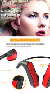 E1 Bone Conduction sport bluetooth Headset with CSR Audio Processing HIFI Stereo filed Skin-friendly TPE Material and 160MAH Large Capacity