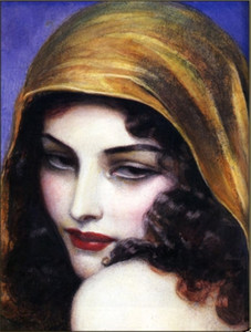 Vintage Art Deco dipinto a mano HD stampa moderna Decor pittura a olio Pop Art Tela di alta qualità multi formato spedizione gratuita p29