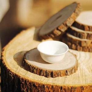 12 컵 받침 나무 조각 나무 받침 둥근 매립지 버드 나무 우드 받침 받침 에코 친화적 인 6cm 8cm 12cm 14cm