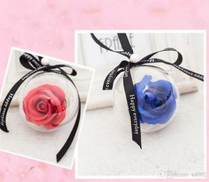Artificiale Rose Flower Soap Round Ball Decorations Fiori finti per Natale San Valentino Fashion Wedding Gift Bouquet 3 5dc ZZ