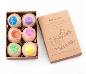 6pcs Bath Bombs Gift Set main balle Grand Bombes de bain bio Kit Fizzy pour Hydratante Bubble Bath Spa