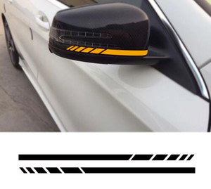 2pcs Side Rear View Mirror Stripes Decal Sticker per Mercedes Benz W204 W212 W117 W176 Edizione 1 AMG Style
