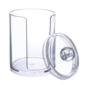 Commercio all'ingrosso trasparente 6.5x7.5 cm acrilico Coon Storage Box Trucco Coon Remover Cilindro contenitore Tenere Stroge Caso Cosmeti bin