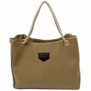 2018 New Canvas Handbag Personality Contracted Large Bag Single Or Double Rope Shoulder Bag For Woman RD642338