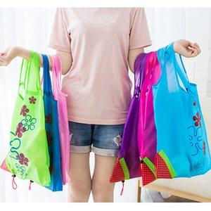 Нейлон Эко-складная клубника хозяйственная сумка многоразовые сумка для хранения красочные хозяйственные сумки сумки Сумки 51 * 37 см HH7-1051