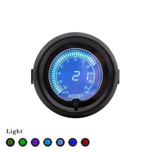 Envío gratis 2 pulgadas 52 mm EVO PSI Boost gauge 7 colores Digital Turbo Boost gauge -30In.hg-35PSI Car meter sin logo