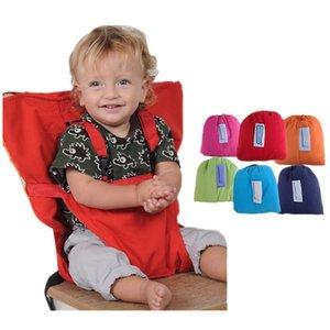 Baby Dining Chair Bag Bébé Siège Portable En Coton Mélange Tissu Infantile Voyage Pliable Enfant Sécurité Ceinture Feeding Sac Siège Chaise Couvre Mk697
