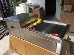 Бесплатная доставка ЕС США стандарт 50*50 см кастрюля столешница настольная мгновенная машина для жарки мороженого жареная машина для рулона мороженого с хладагентом