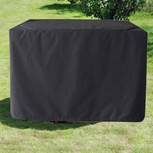 Cubierta de muebles al aire libre cuadrado negro impermeable al aire libre jardín cubierta de mesa a prueba de polvo con bolsas de almacenamiento para jardín