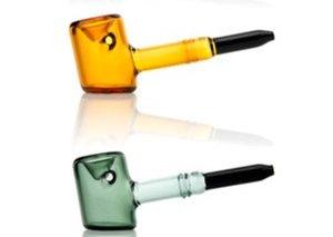 Nuovo mini Tankard Sherlock spessore martello vetro tabacco da pipa Tubi laboratori mano tubo di vetro colorato trasporto libero all'ingrosso