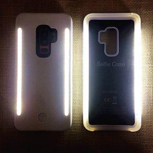 YENI Dolgu ışık Özçekim LED Işık telefon Kılıfları Telefon Çift Taraf Işık Özçekim eserdir iphone X 8 7 7 s Sansung S9 s9 artı S8 S8 artı