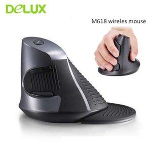 Souris Optique Sans Fil Delux M618 800-1200-1600 DPI Souris Optique Grip Mause Souris Ordinateur USB Ergonomique 2.4 Ghz