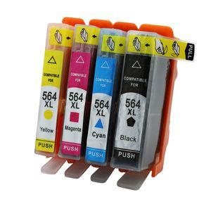 HP 564 564XL Için 4PK Uyumlu Mürekkep Kartuşu Değiştirme Deskjet 3521 3522 3070A 3520 Photosmart estation C510a Yazıcı Mürekkep Püskürtmeli