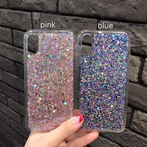 Para iphonex 8 7 6 plus case de luxo galvanizado flash de silicone para o iphone case shell inquebrável mps9