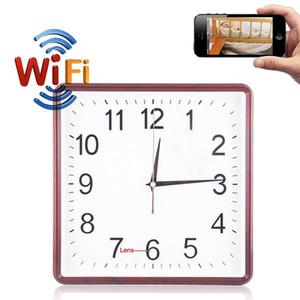 Reloj de pared de la cámara 32GB de memoria 720P HD DVR sin hilos del agujero de alfiler reloj grabador de vídeo Seguridad para el Hogar larga grabación WiFi PQ273 cámara IP vez