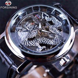 Forsining Dragon Carving Serie Skeleton Designer Transparent Zurück Fall Herrenuhren Top-marke Luxus Männliche Mechanische Uhr