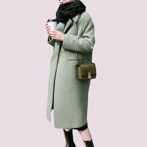 Yeni Blend Yün Uzun Koza coat kadın ceket kadın palto 2018 İlkbahar sonbahar yün giyim casaco kış yün Palto