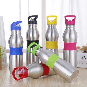 20 oz Outdoor Sports tragbare Wasserflaschen Edelstahl Tassen Kürbis Form Flasche mit Saugdüse hängen Ring