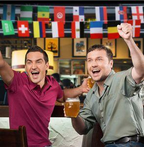 Russische WM 32 Team Flagge String Fahnen Country World Banner Bunting Bar Hause Party Dekoration