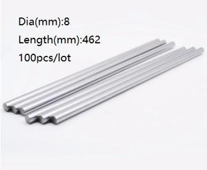 100 teile / los 8x462mm Durchmesser 8mm lineare welle 462mm lange gehärtete wellenlager verchromt stahlstange bar für 3d drucker teile cnc router