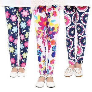 27 Estilos Niñas Pantalones Primavera Floral Leggings Impresos Niños Niñas Pantalones de Yoga Niños Pantalones Flacos Elásticos de Dibujos Animados Medias Suaves América Envío Gratis