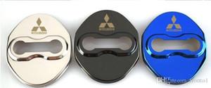 Auto logo embleme abzeichen auto türschloss abdeckung fall für mitsubishi asx lancer 9 10 l200 türschloss schutz zubehör auto styling