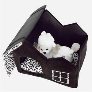 Frete grátis Vendas !!! Super Macio Estilo Britânico Pet House Size M Caf Dog Houses Canil Acessórios