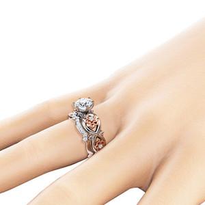 Hohl Flower Ring Cubic Zironia Diamant Ring Engagement Hochzeit Frauen Ringe Modeschmuck Willens und sandige Drop Ship
