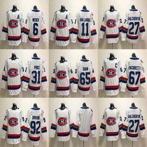 2018 몬트리올 Canadiens 100 번째 클래식 저지 67 맥스 Pacioretty 65 앤드류 쇼 31 캐리 프라이스 27 Alex Galchenyuk Hockey Jerseys Cheap