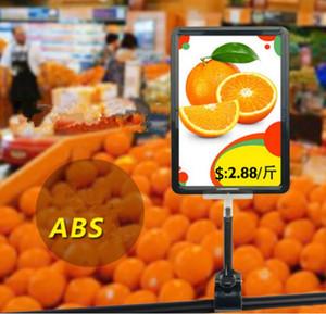 A5 Rahmen pop werbung poster display ständer rack mode Supermarkt Daumen clip Obst gemüse preisschild Promotions kartenhalter 10 sätze